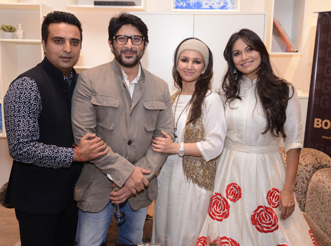 from left Ajay Mago, Arshad Warsi, Promila & Maria