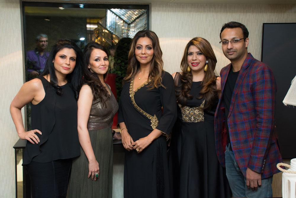 Promila Bahri, Shivani Ahluwalia, Gauri Khan, Monica & Harshul Parikh
